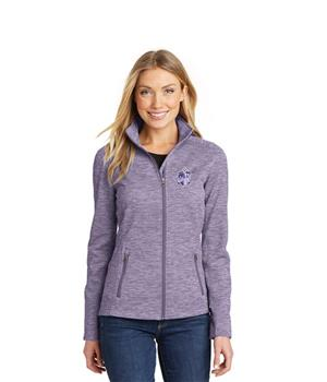Ajax Women Purple Full-zip Fleece Top Image