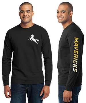 MAVS Long Sleeve Tee (BLACK) Image