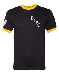 BUSC 50th Black Ringer Tee