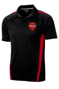 Mustang Soccer Black/Red Polo
