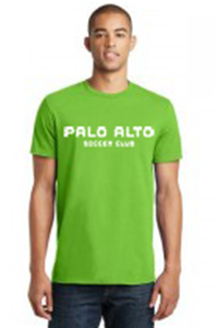 COTTON T-SHIRT NEON GREEN WITH WHITE LOGO