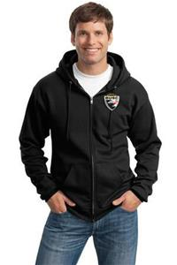 BUSC BLACK FULL ZIP HOODY