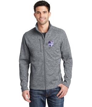 Mens Grey Full-zip Fleece Top Image