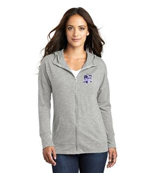 Womens Light Grey Full-zip Hoodie   Image