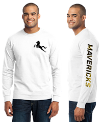 MAVS Long Sleeve Tee (WHITE)