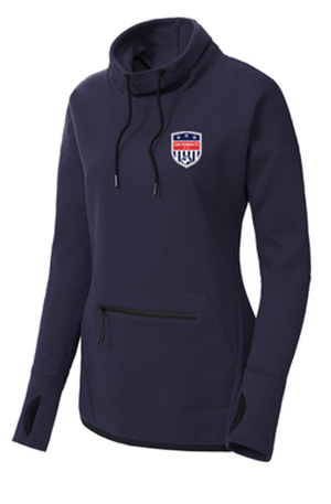 SRFC NAVY LADIES TRIUMPH COWL NECK PULLOVER Image
