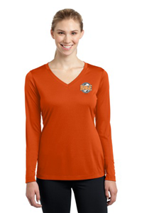 SPORT TEK WOMEN'S LS ORANGE