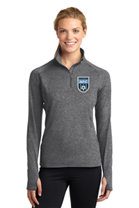AFC Ladies 1/4 Zip Pullover Grey