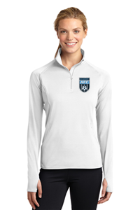 AFC Ladies 1/4 Zip Pullover White