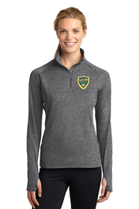 CVSC Ladies 1/4 Zip Pullover Grey