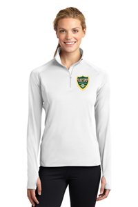 CVSC Ladies 1/4 Zip Pullover White