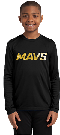 2019 MAVS Long Sleeve Practice Tee (Black)