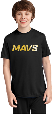 2019 MAVS Short Sleeve Practice Tee (Black)