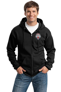 MSC Full Zip Hooded Black Sweatshirt