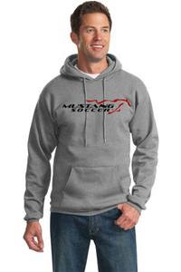 Mustang Soccer Grey Pull Over Hoody