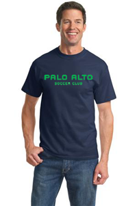 COTTON T-SHIRT NAVY WITH GREEN LOGO