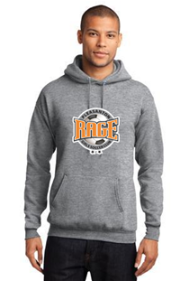 RAGE ATHLETIC GREY PULLOVER HOODY