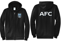 AFC Full Zip Hoody Black