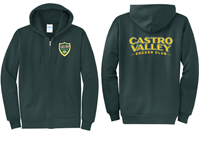 CVSC Full Zip Hoody Green