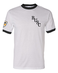 BUSC 50th White Ringer Tee